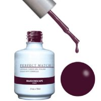 LeChat UV/LED Gel Polish Perfect Match Duo Gel 2 x 15ml - Maroonscape
